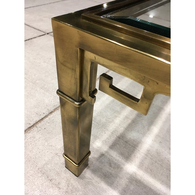 Metal Mid-Century Greek Key Coffee Table by Mastercraft For Sale - Image 7 of 13