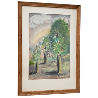 """Ray Nardin """"The Promise"""" Original Watercolor C.1930s For Sale"""