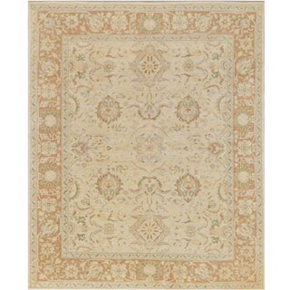 """Mansour Quality Handwoven Agra Rug - 8'2"""" X 9'2"""" For Sale"""