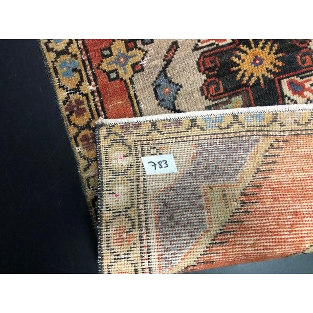 1960s Vintage Boho Turkish Anatolian Handmade Multicolor Small Rug For Sale - Image 5 of 6