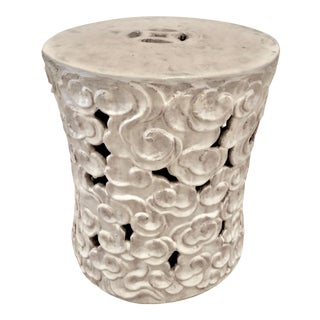 Chinoiserie Ceramic 'Cloud' Design Garden Seat/Table For Sale