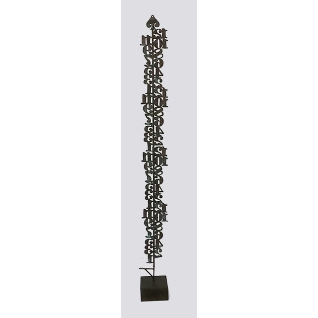 Numerical Totem Sculpture For Sale - Image 4 of 5