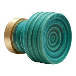 Nest Studio Collection Glaze-01 Matte Teal Knob For Sale