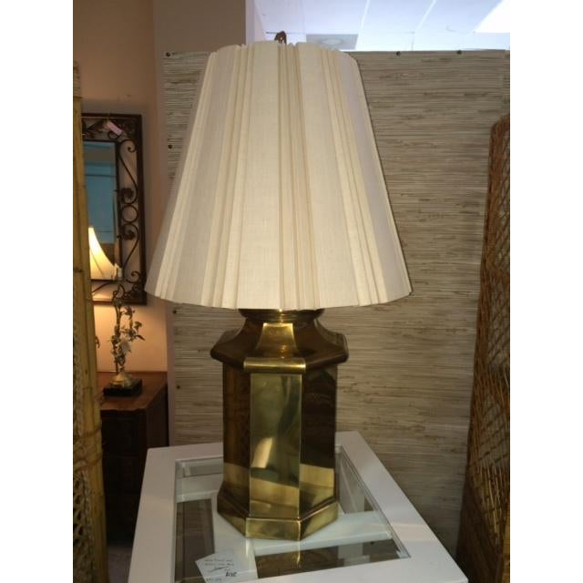 Vintage Large Brass Lamp - Image 5 of 5