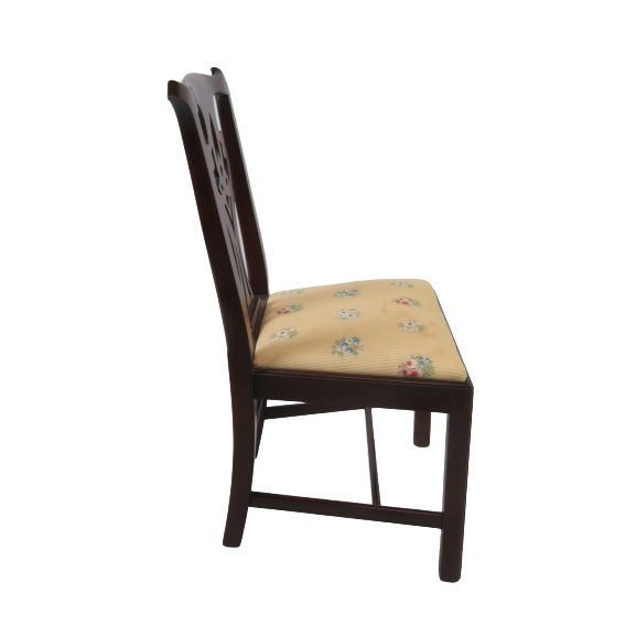 Chestnut Henkel Harris Chippendale Dining Mahogany Chairs Model 101 - Set of 6 For Sale - Image 8 of 13