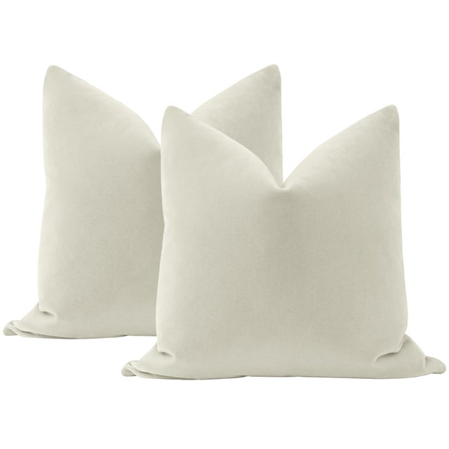 """Not Yet Made - Made To Order 22"""" Marble Mohair Pillows - a Pair For Sale - Image 5 of 5"""