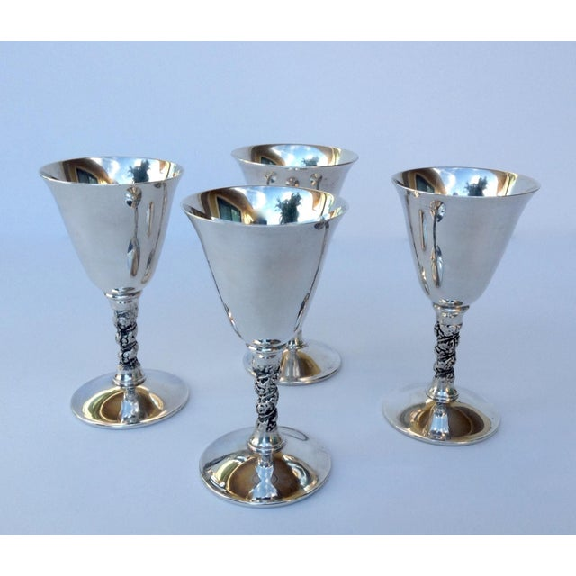 """1950s Vintage Silver Plate Spanish """"Valerio"""" Drinks Server Ware- Set of 12 For Sale - Image 5 of 11"""
