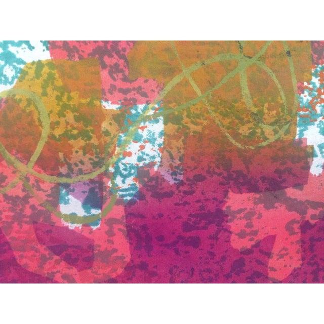 Mid-Century Modern Mid-Century Abstract Silkscreen Estelle Siegelaub For Sale - Image 3 of 7