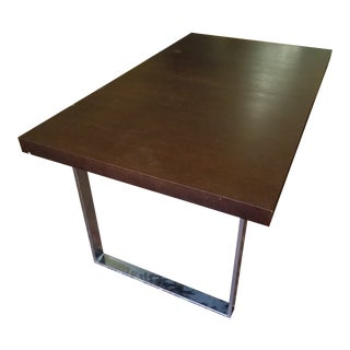 Modern Wenge Wood Dining Table For Sale