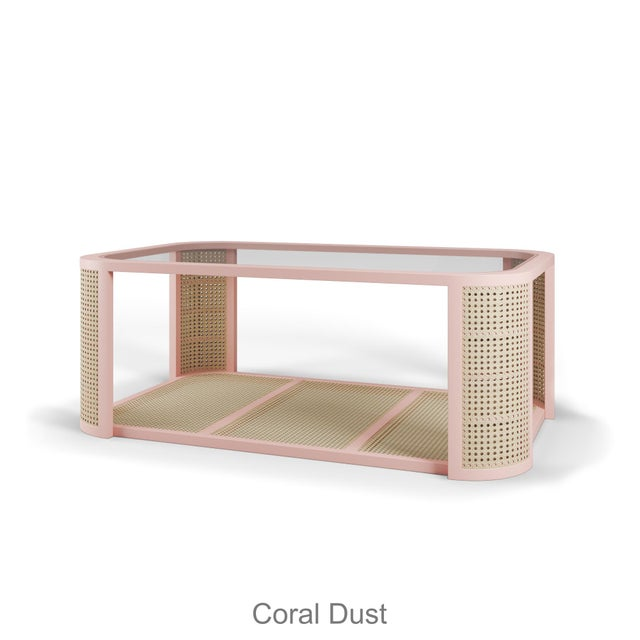 Contemporary Lola Coffee Table - Coral Dust For Sale - Image 3 of 3