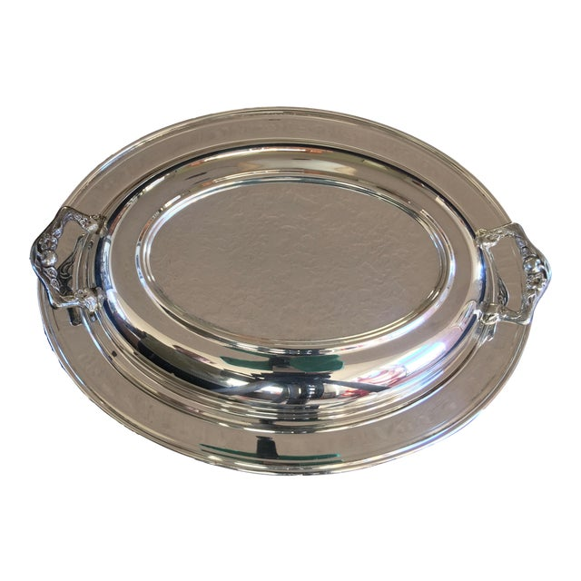 Vintage Silver Plated Divided Serving Dish - 3 Pieces - Image 1 of 5