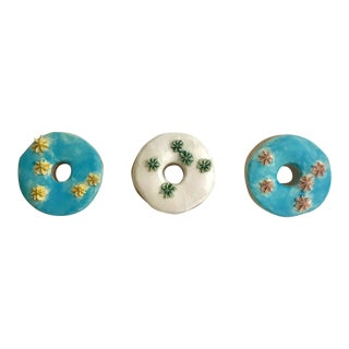 Ceramic Wall Donuts - Set of 3