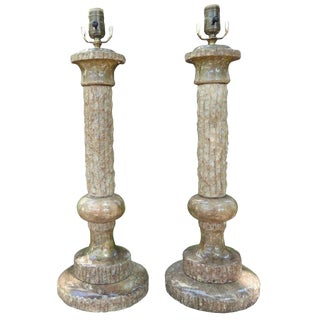 1960s Hollywood Regency Marbro Marble Lamps - a Pair