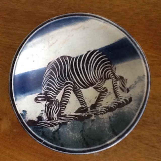 African Zebra Trinket Tray - Image 2 of 11