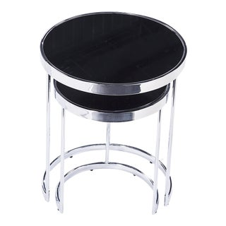 Blink Home Black Nesting Tables - A Pair For Sale
