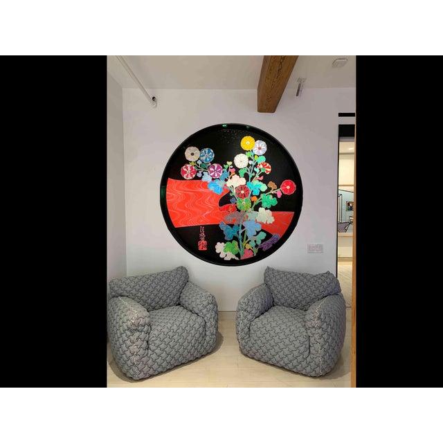 Gervasoni Italian Gervasoni Nuvola Armchairs - a Pair For Sale - Image 4 of 10