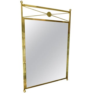 Vintage Brass Billy Haines Style Mirror For Sale