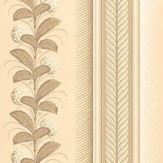 Schumacher Hydrangea Drape Wallpaper in Fawn For Sale