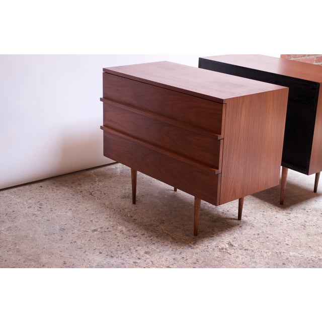 Pair of Mel Smilow Three-Drawer Walnut Chests For Sale - Image 10 of 13