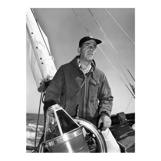 Humphrey Bogart at the helm 1952 For Sale