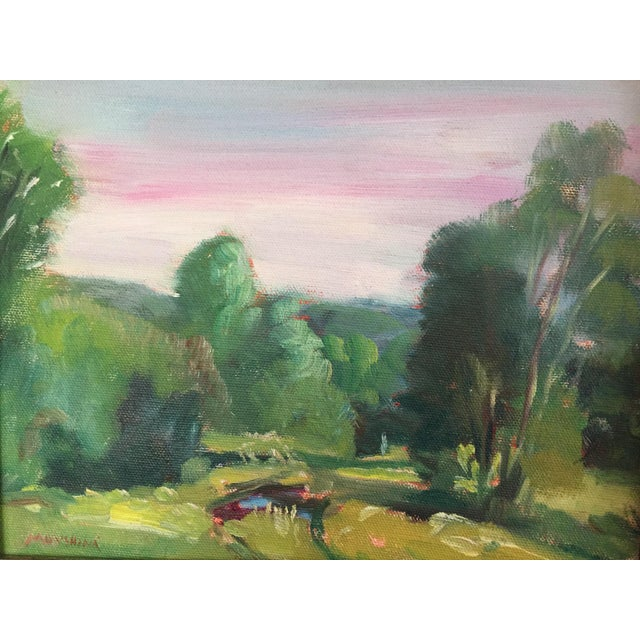 Traditional Missouri Ozark Countryside Impressionistic Plein Air Painting For Sale - Image 3 of 8