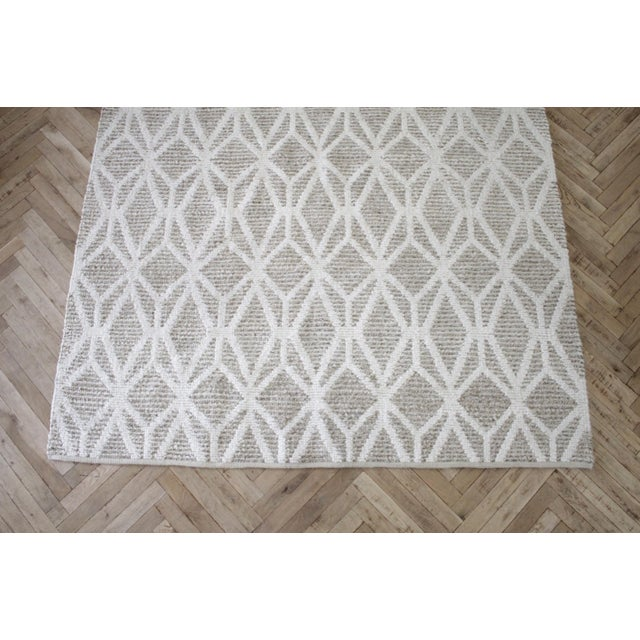 Modern New Modern Wool and Natural Fiber Rug For Sale - Image 3 of 10
