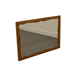 Ethan Allen Heirloom Nutmeg Maple Scalloped Dresser / Wall Mirror For Sale