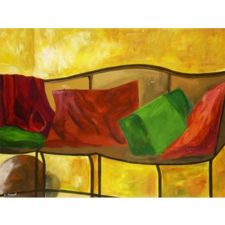 Isabelle Troquet, Couch in Yellow Room For Sale