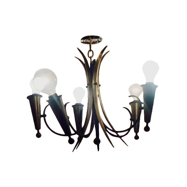 Harlequin-Style French Chandelier For Sale