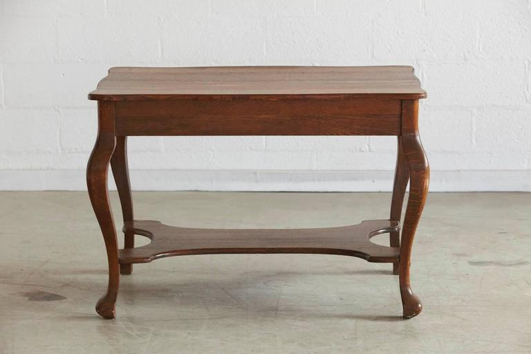 Solid Antique Oak Quartersawn Larkin Library Table With Drawer For Sale In  New York   Image