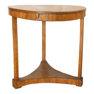 French Antique Leathertop GueridonTable For Sale