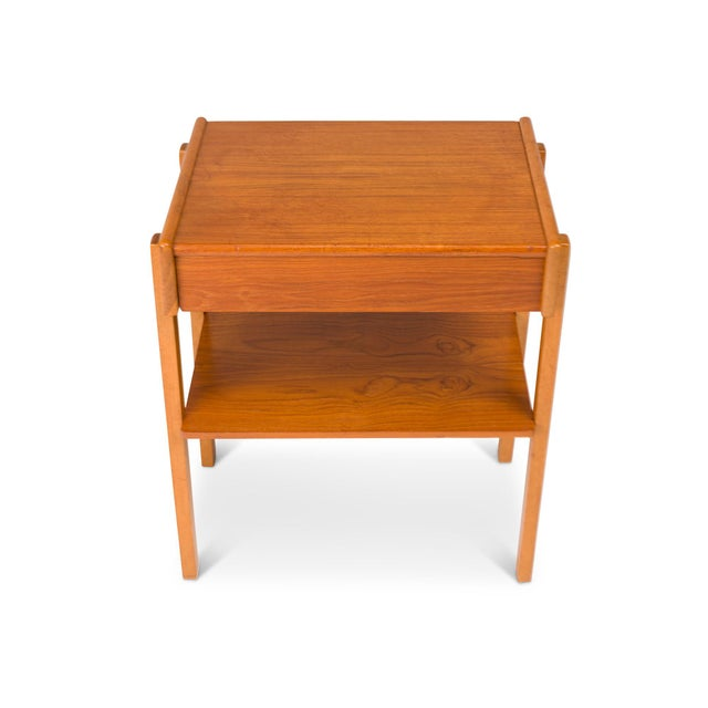 Wood Vintage Danish Mid-Century Teak Nightstands (Pair) For Sale - Image 7 of 11
