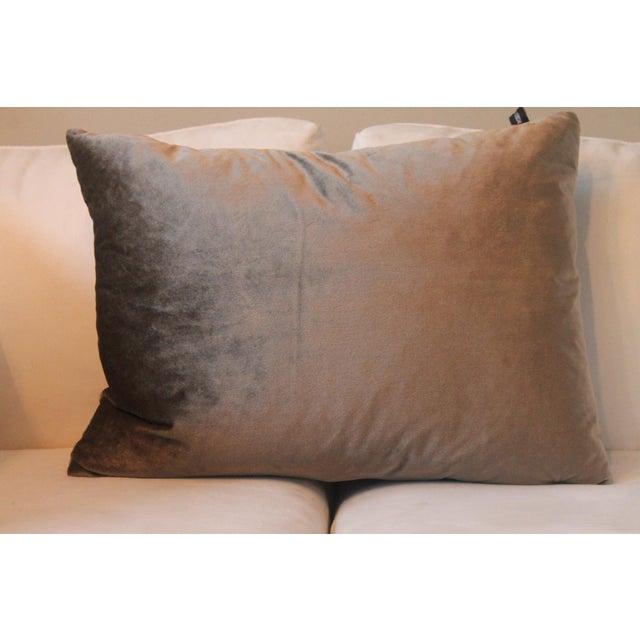 2010s Gray Velvet Pillows - a Pair For Sale - Image 5 of 7