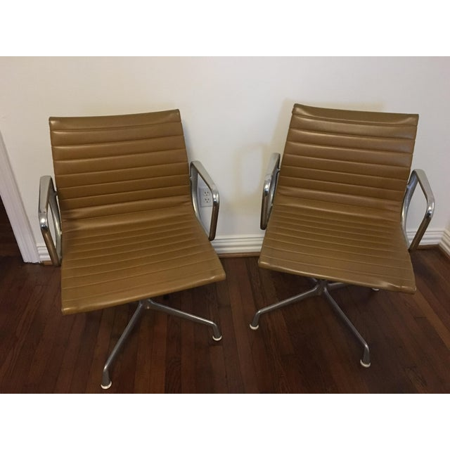 Eames Style Gold Office Chairs - A Pair - Image 2 of 7