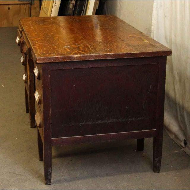 Tiger Oak Solid Wood Teacher's Desk For Sale - Image 5 of 7 - Tiger Oak Solid Wood Teacher's Desk Chairish