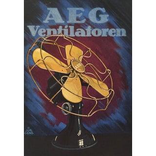 1927 German Art Deco Mini Poster, Aeg Ventilators