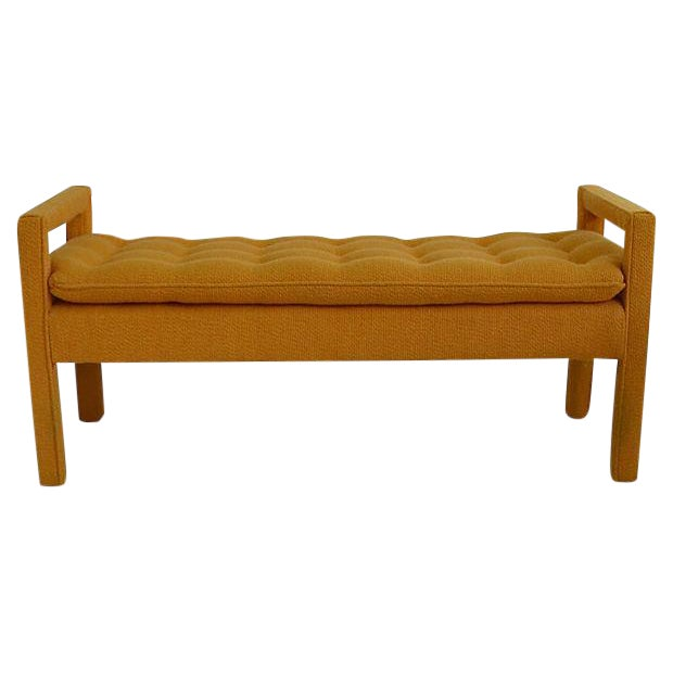 Milo Baughman Tufted Bench For Sale