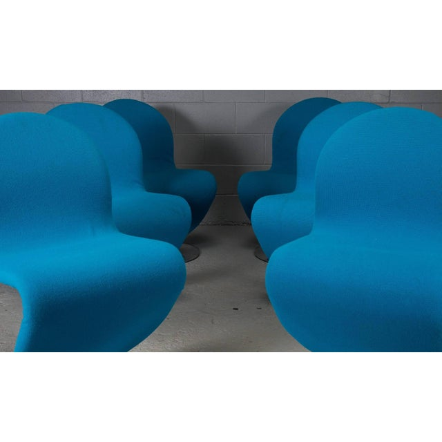 These striking chairs were designed in the 1950s by Verner Panton for Fritz Hansen in Denmark. The 1-2-3 chairs are...