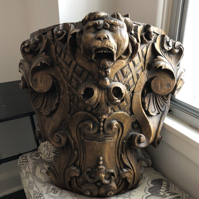 19th Century Carved Architectural Wall Shelf For Sale - Image 4 of 10