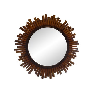 French Split Bamboo Sunburst Mirror