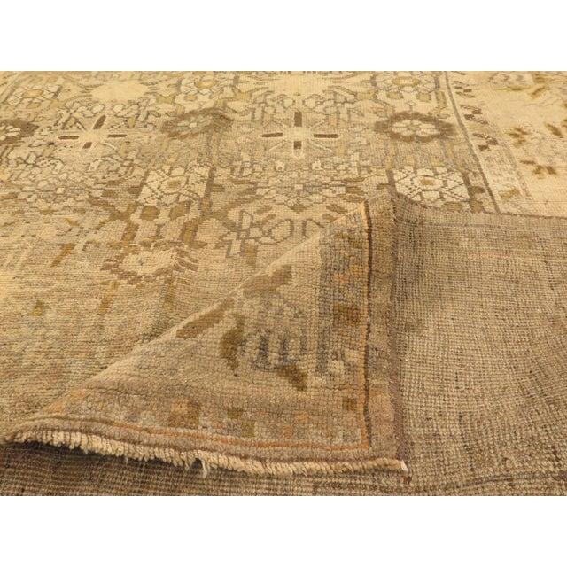 Antique Persian Bijar Rug With Brown & Beige Floral Details- 4′10″ × 8′3″ For Sale - Image 4 of 5