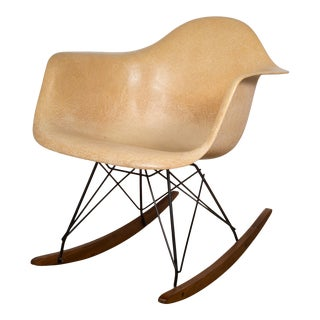 Eames Molded Fiberglass Rar Rocking Chair by Herman Miller C.1950s For Sale