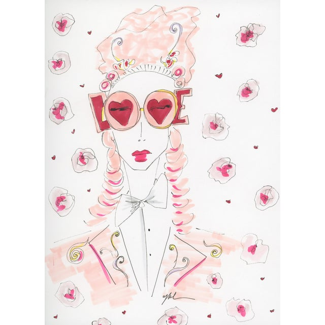 """2010s Original Illustration, """"Marie Love Antoinette"""" by Carly Kuhn For Sale - Image 4 of 5"""