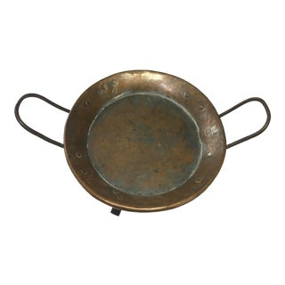 19th Century Antique Copper French 3-Foot Cooking Pan
