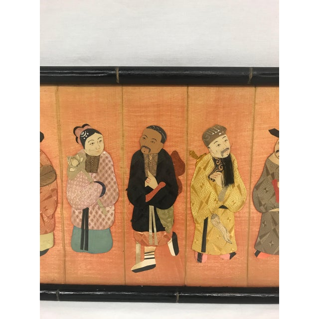 19th Century Framed Chinoiserie Figures For Sale - Image 4 of 12