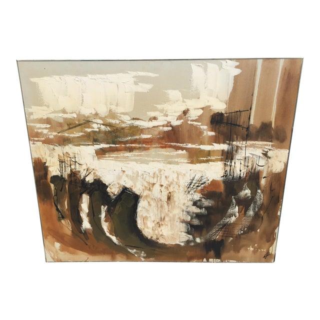 Etta Benjamin Mid-Century Abstract Painting - Image 1 of 6