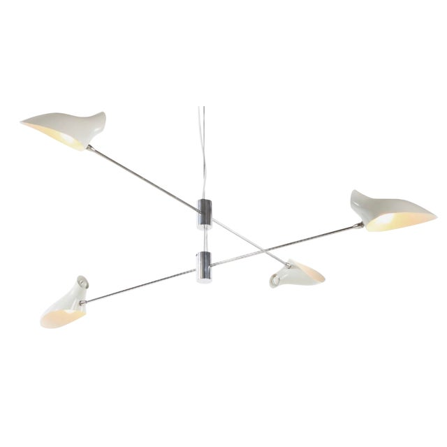 Mid-Century Style David Weeks Large Cross Cable Chandelier For Sale