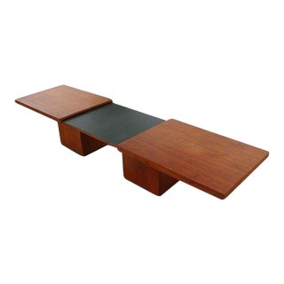 John Keal for Brown Saltman Walnut Expanding Coffee Table