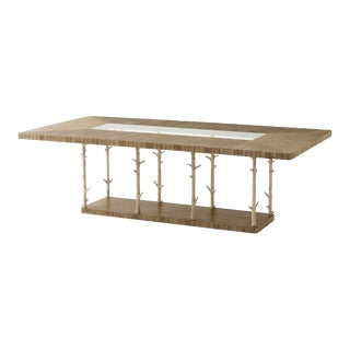 Modern Rectangular Top Dining Table For Sale