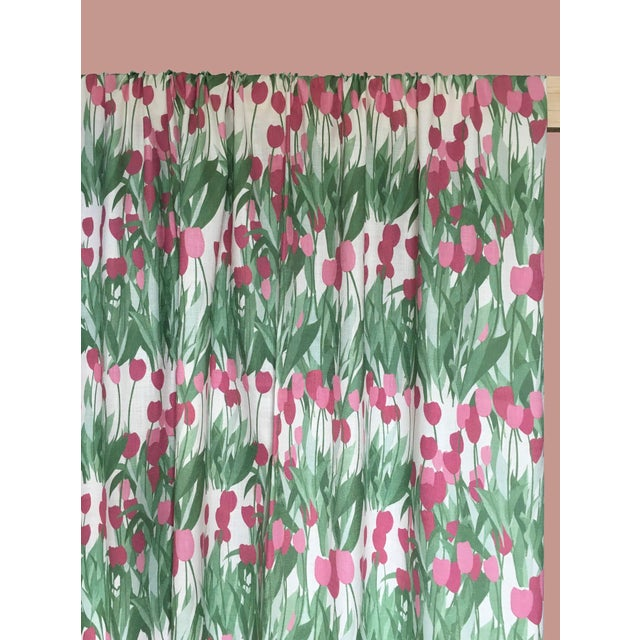 In Bloom features Tulips in gem like pigment hues and zesty greens, a playful pattern bringing joy and freshness creating...